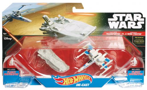 Star Wars Hot Wheels Transpoter Vs X-Wing Fighter